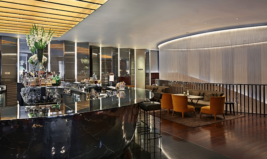Il Bar at the fashionable and luxurious stay at Bulgari Hotel London