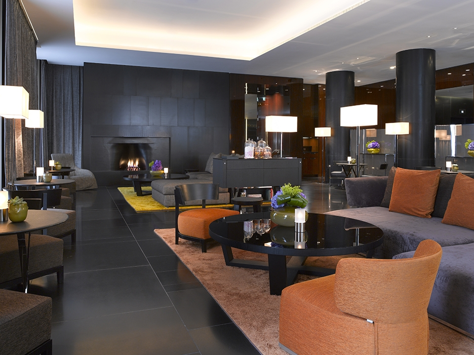 Lobby Lounge at the fashionable and luxurious stay at Bulgari Hotel London