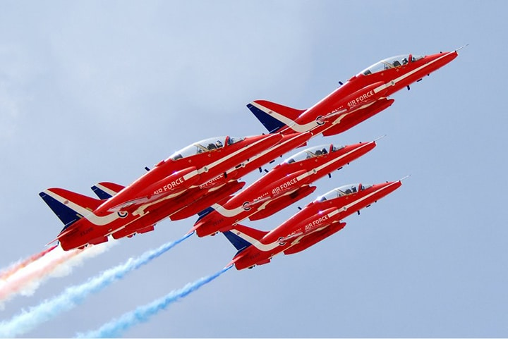 RAF Red Arrows at the Cannes Yacht Festival 2017