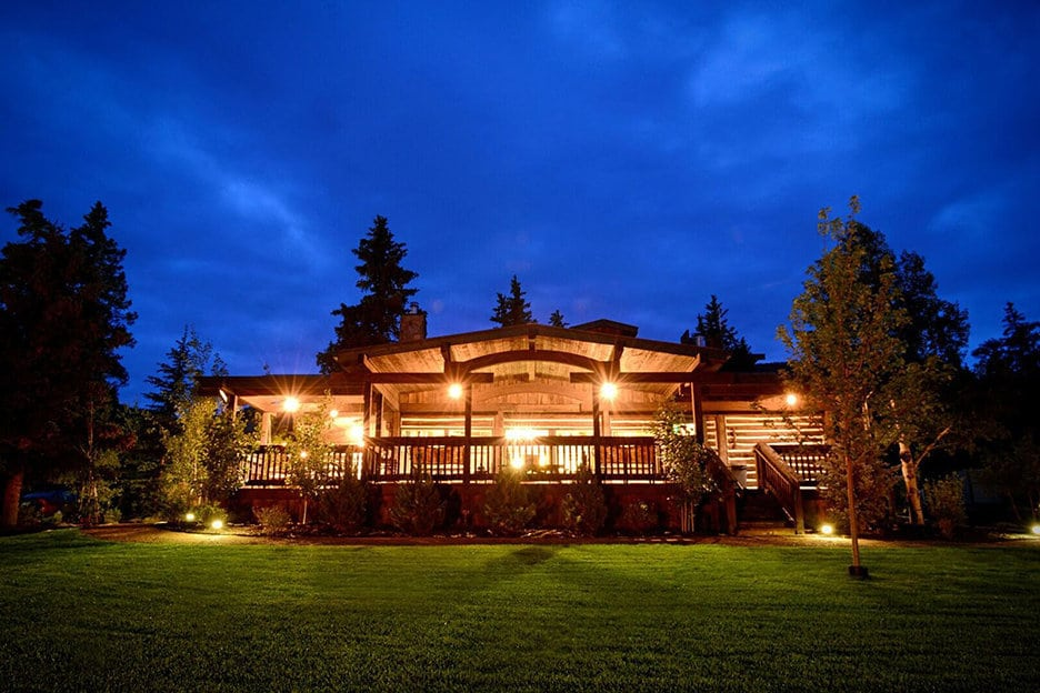 Fly fishing camp at night, The Broadmoor