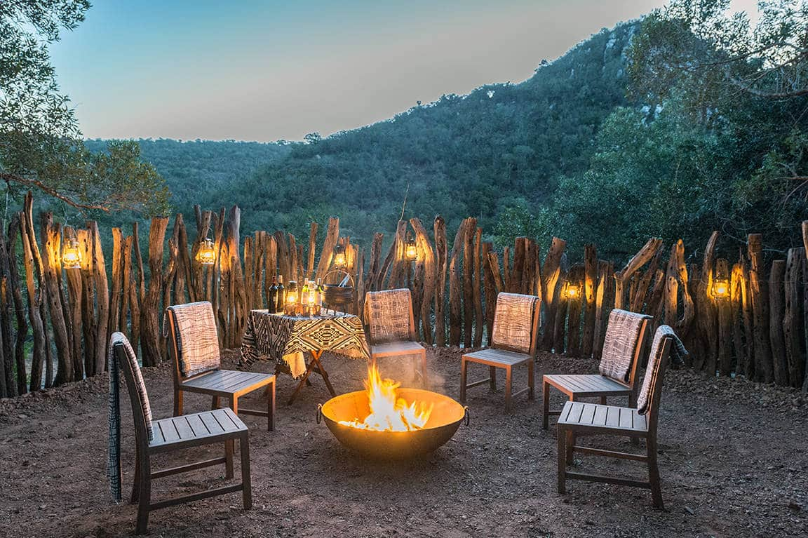 Inzolo Exclusive Game Lodge boma dinner