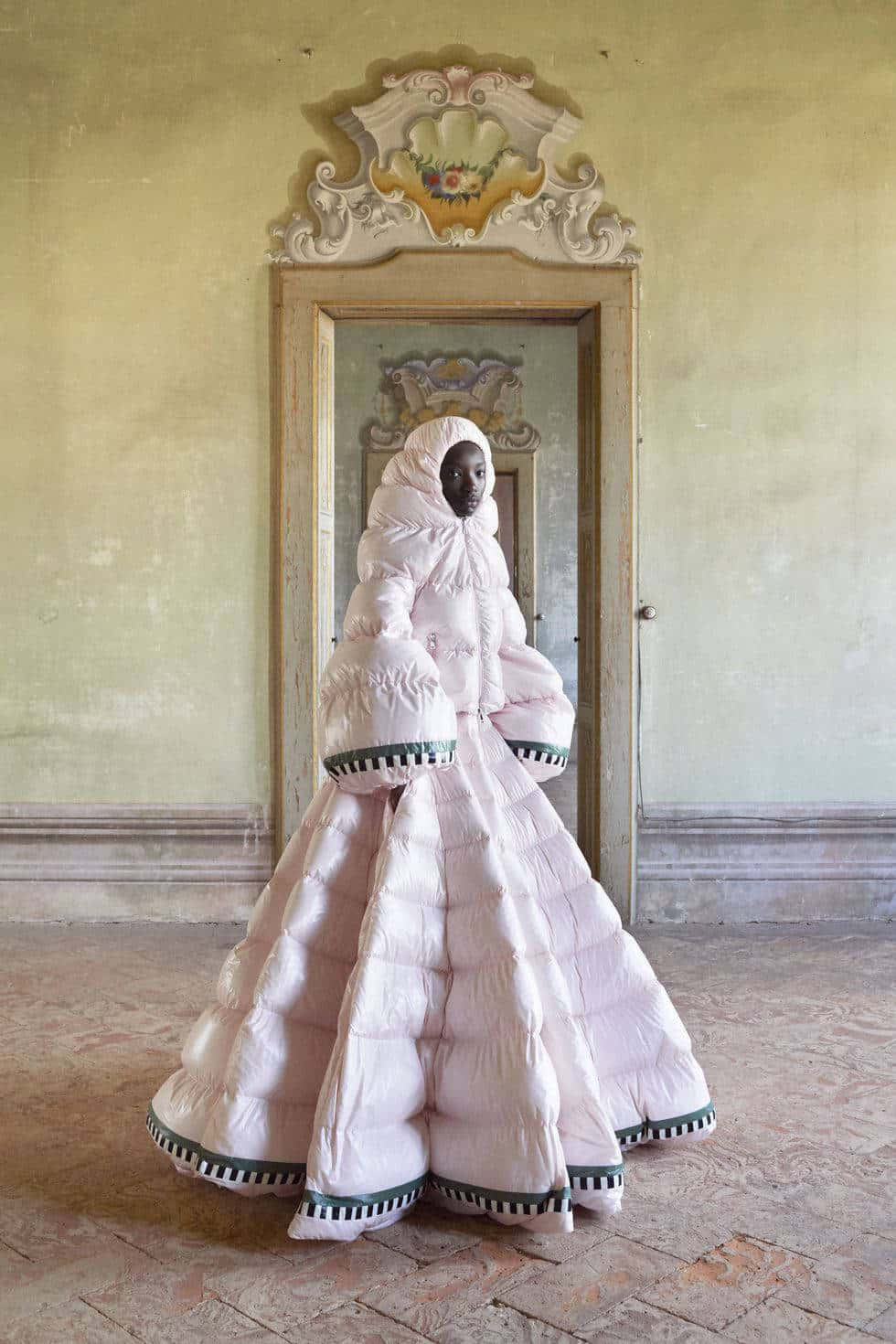 Moncler Genius ski-like evening gowns