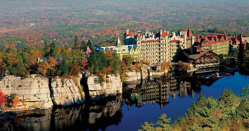 Mohonk Mountain House in New Paltz, NY is one of the 50 Best Hotels in the United States