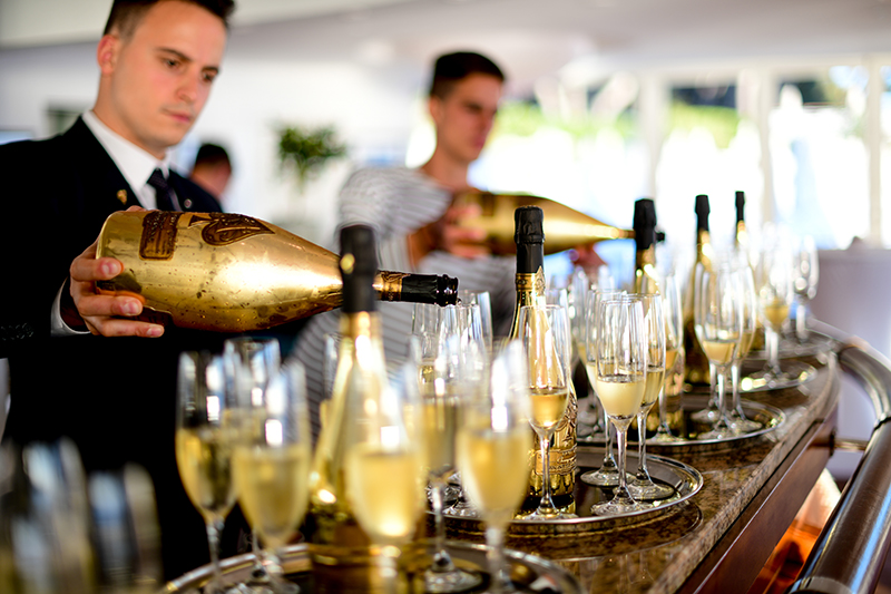Champagne Armand de Brignac served in the after-party for celebrities at the 72nd Cannes Film Festival