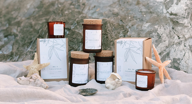 Urban Re-Leaf Cannibas Candles as a Father's Day present