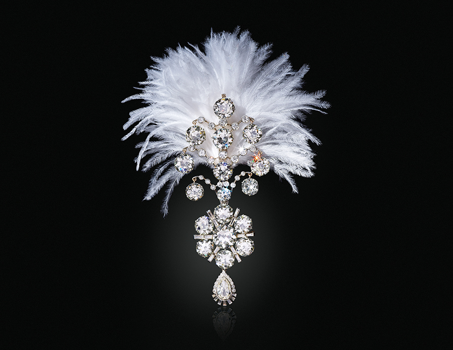 A Belle Époque diamond Jigha. $1,200,000-2,200,000. Offered in Maharajas & Mughal Magnificence on 19 June 2019 at Christie's in New York