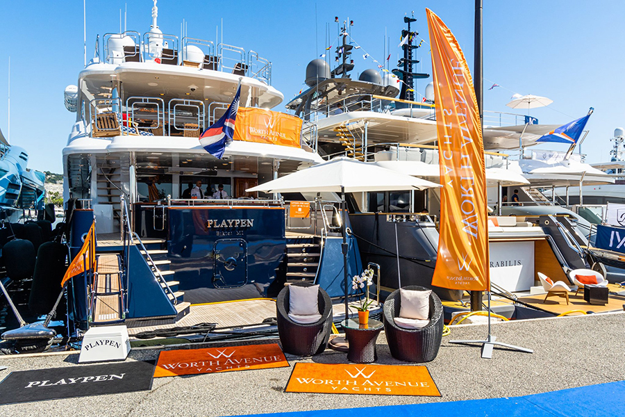 Cannes Yachting Festival 2019, Worth Avenue yacht, Playpen Yacht.