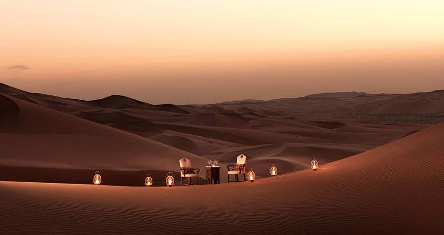Al Falaj, a Bedouin-style dining experience set among the dunes