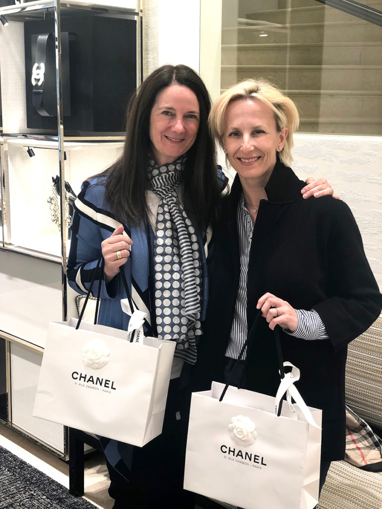 Priscilla & Christine spent a successful shopping day at Chanel, Paris