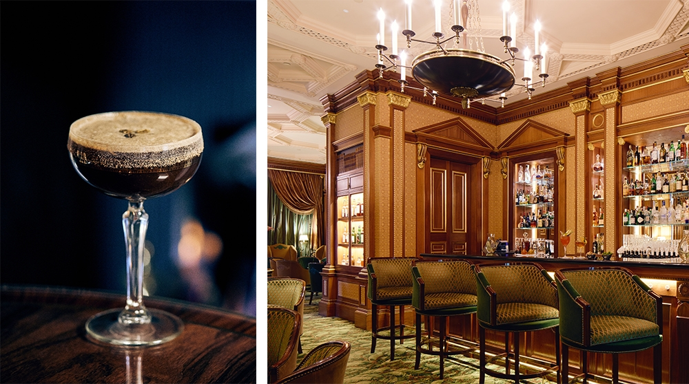 The Espresso Martini by the Library Bar at The Lanesborough, London