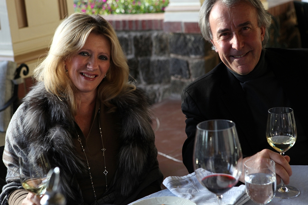 Amalia and Julio Palmaz, the winery's Buenos Aires-born co-founders and co-chairmen