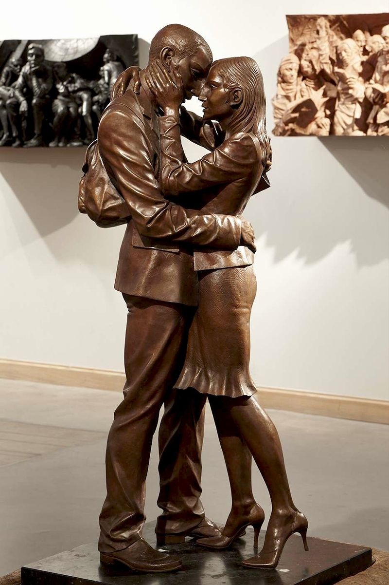 The Meeting Place Sculpture, by Paul Day, British Sculptor