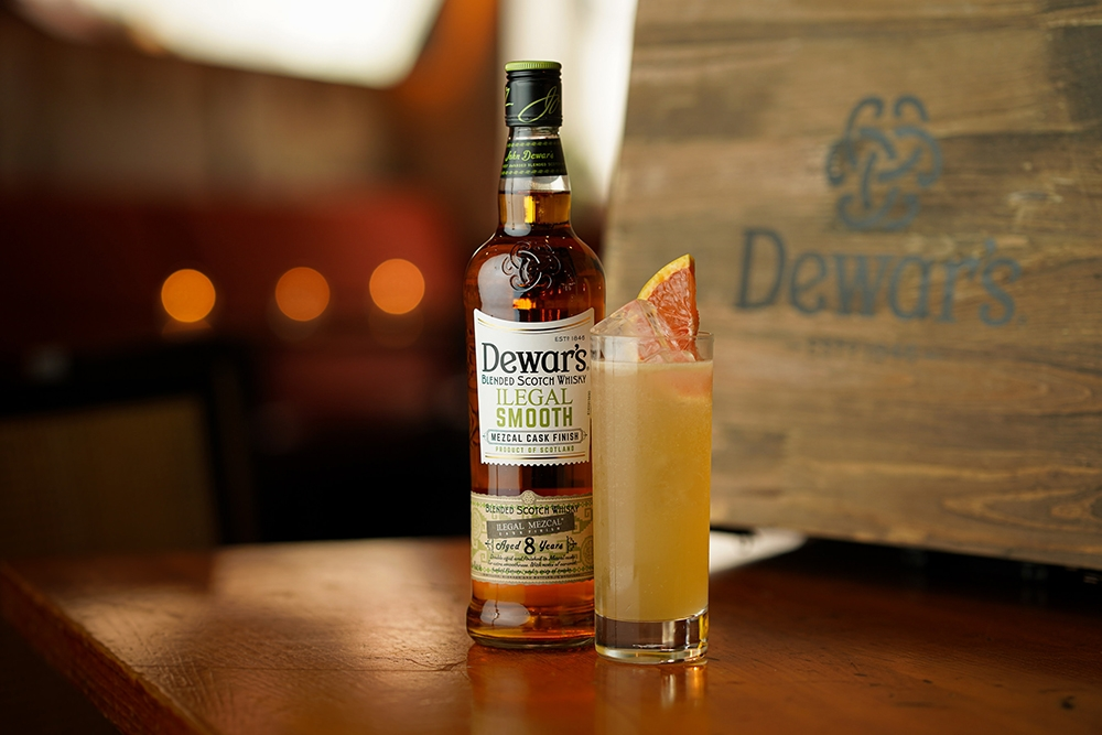 Dewar's spirit and the toasted citrus highball cocktail