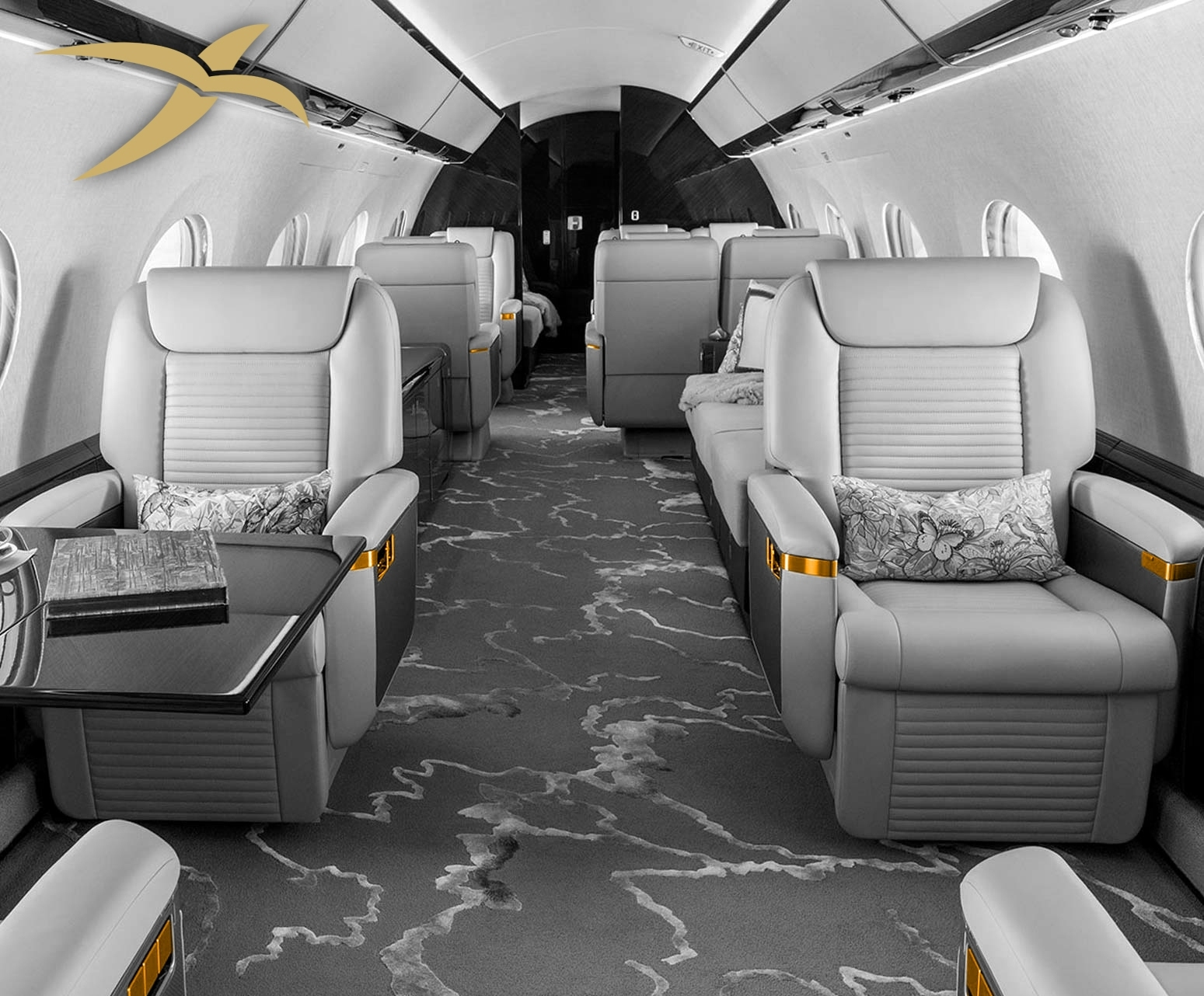 BitLux private aviation, style above the clouds