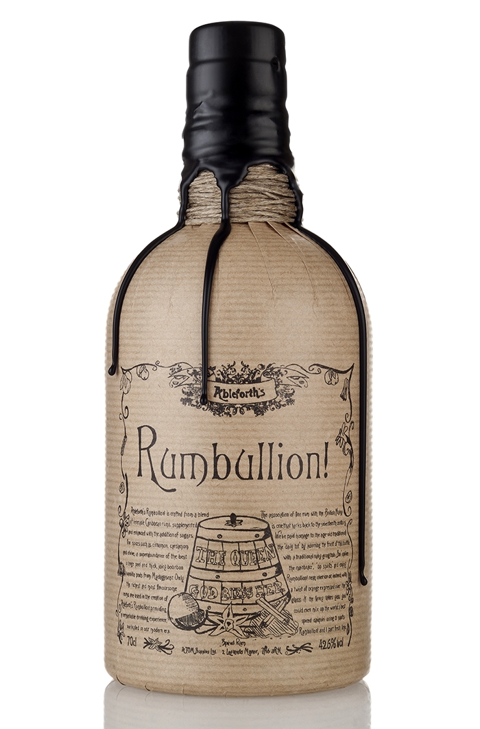 Ableforth's Rumbullion rum created by carefully blending tinctures of Madagascan vanilla, orange peel, cinnamon, cloves and cardamom into a base of delicious Caribbean rum