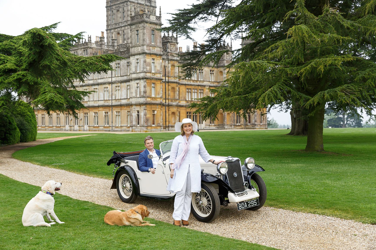 Lord & Lady C at their home, Highclere Castle