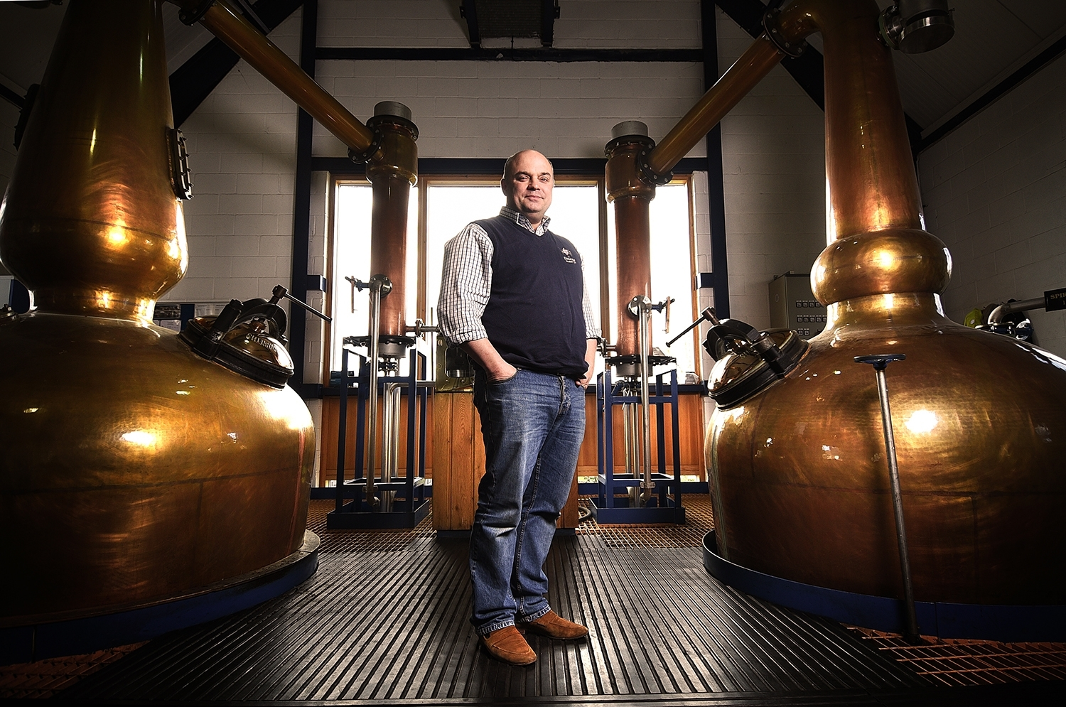 The English Whisky Company at St George's Distillery, Roudham, near Thetford. Owner Andrew Nelstrop.