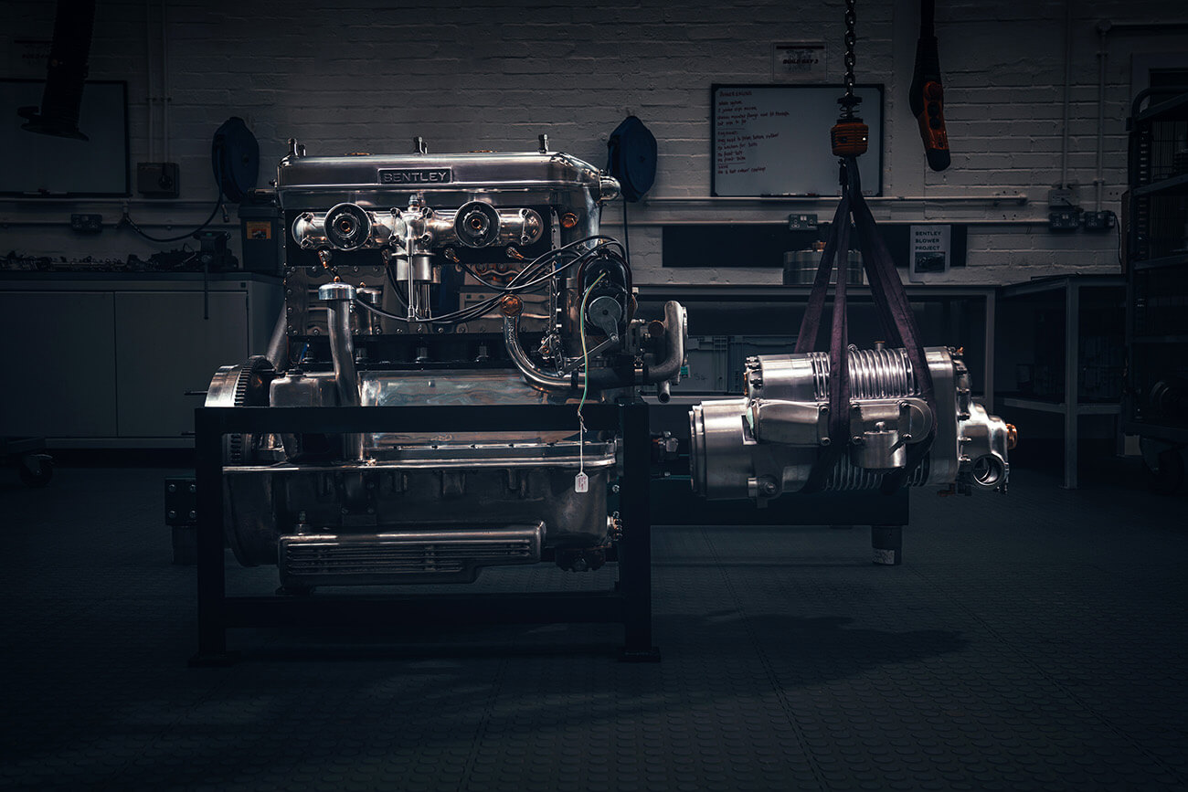 Blower Engine and Super charger, Bentley Mulliner collection at Salon Prive 2020