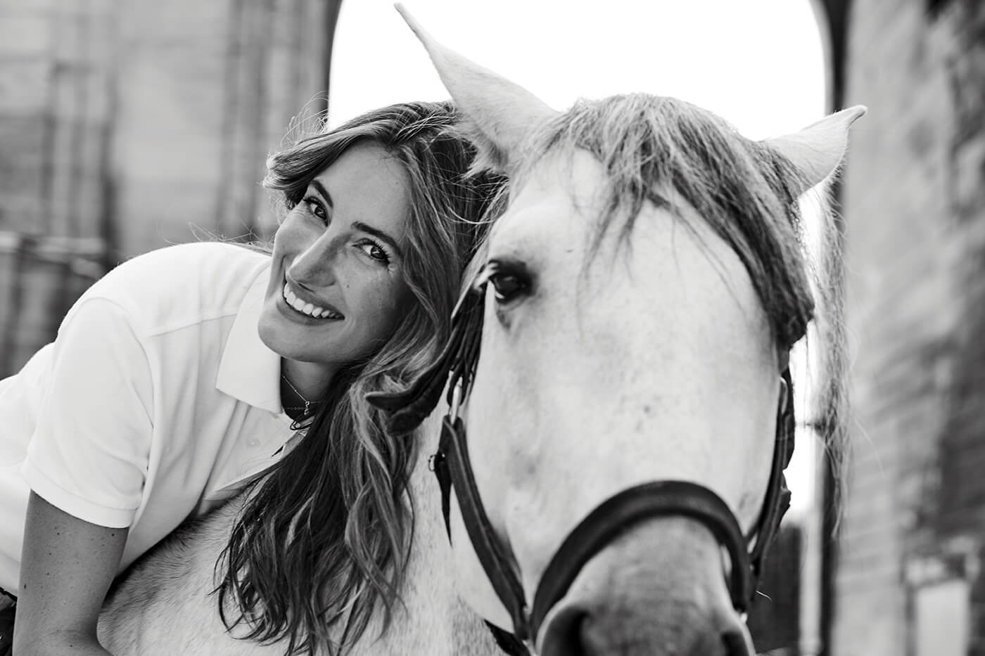 Jessica Springsteen with her horse