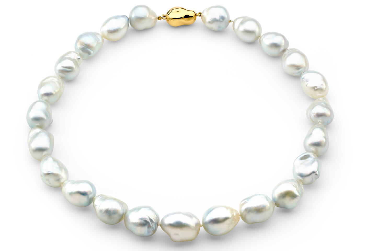 glamorous white pearl necklace