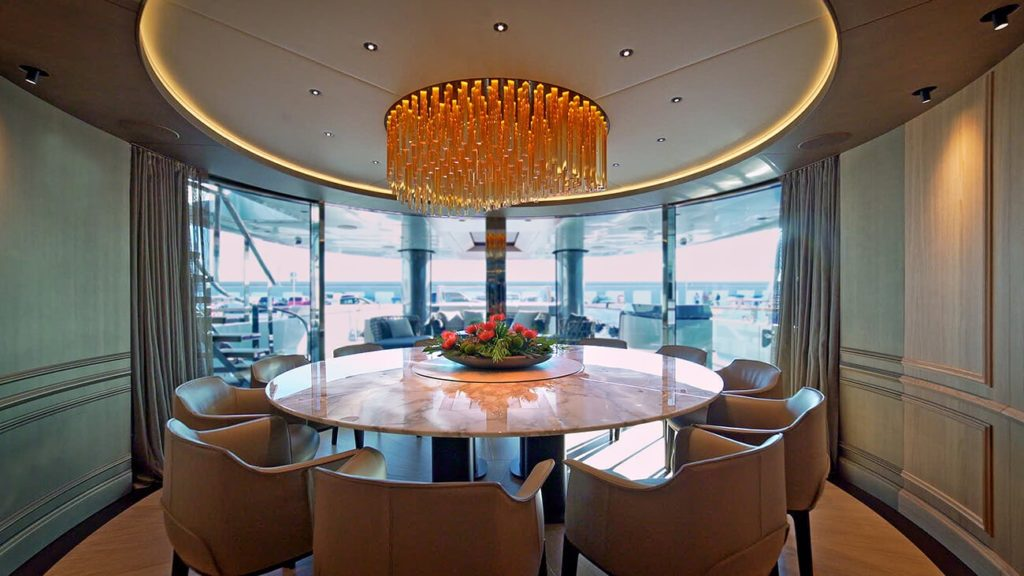 Admiral Geco Yacht dining room