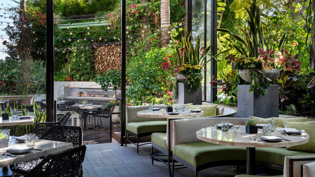 The gorgeous neighborhood eatery is popular all-day, so book ahead to ensure a place