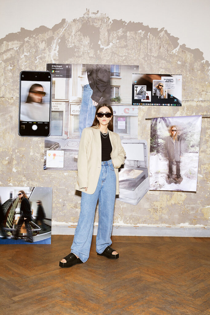 digital artist Hedvig Moberg wearing The new Atelier by Vagabond SS2021 Collection 1
