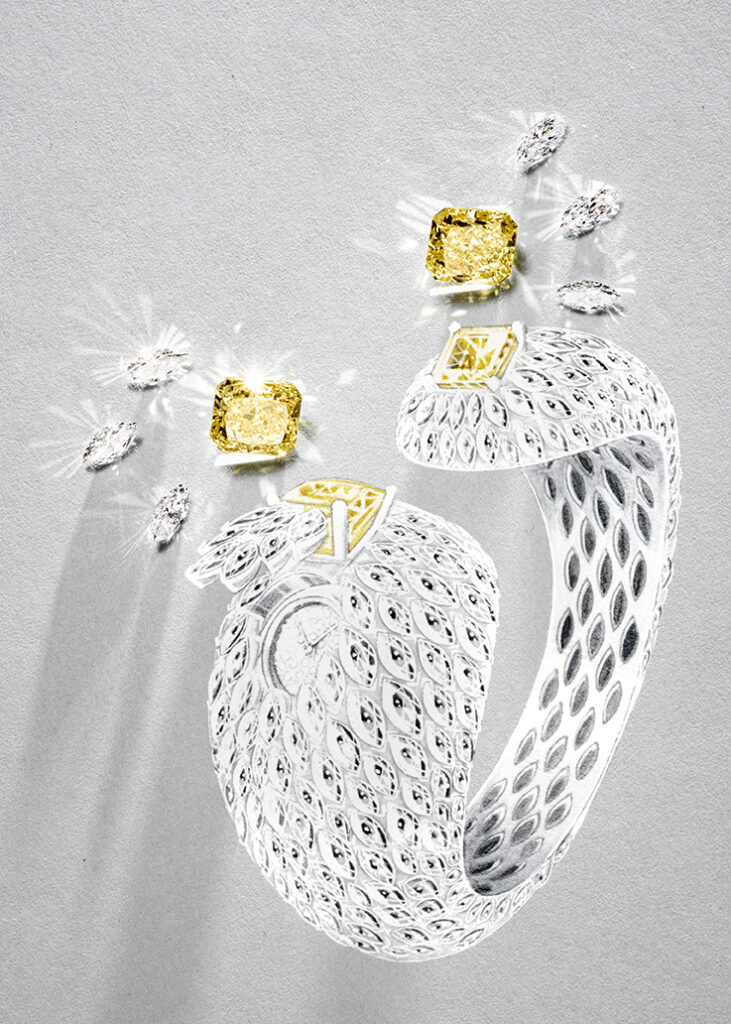 """Piaget new masterpiece in its Wings of Light collection, """"Exquisite moments""""."""
