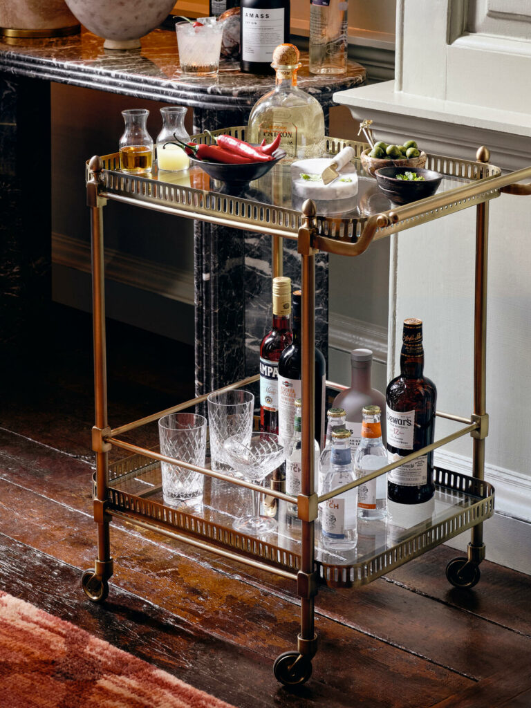 Soho Home Bar Cart as a Mother's Day Gift