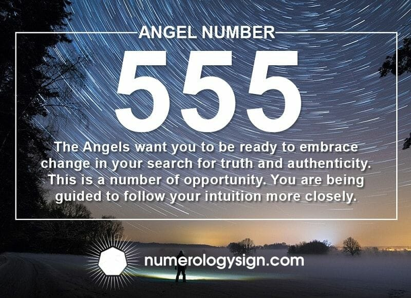 angelic number 555 meaning