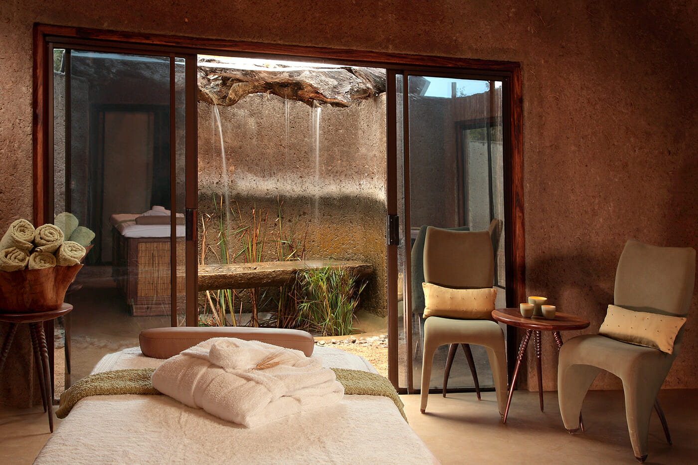 The tranquil space at The Amani Spa. Photo courtesy of Sabi Sabi Earth Lodge