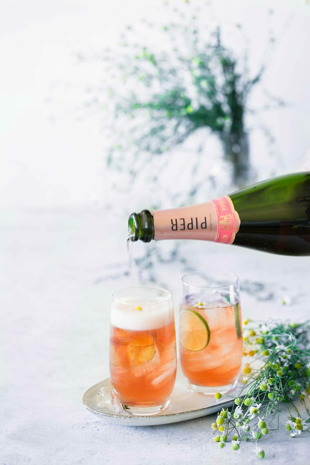 The Camomille Sauvage Rosé Champagne Cocktail
