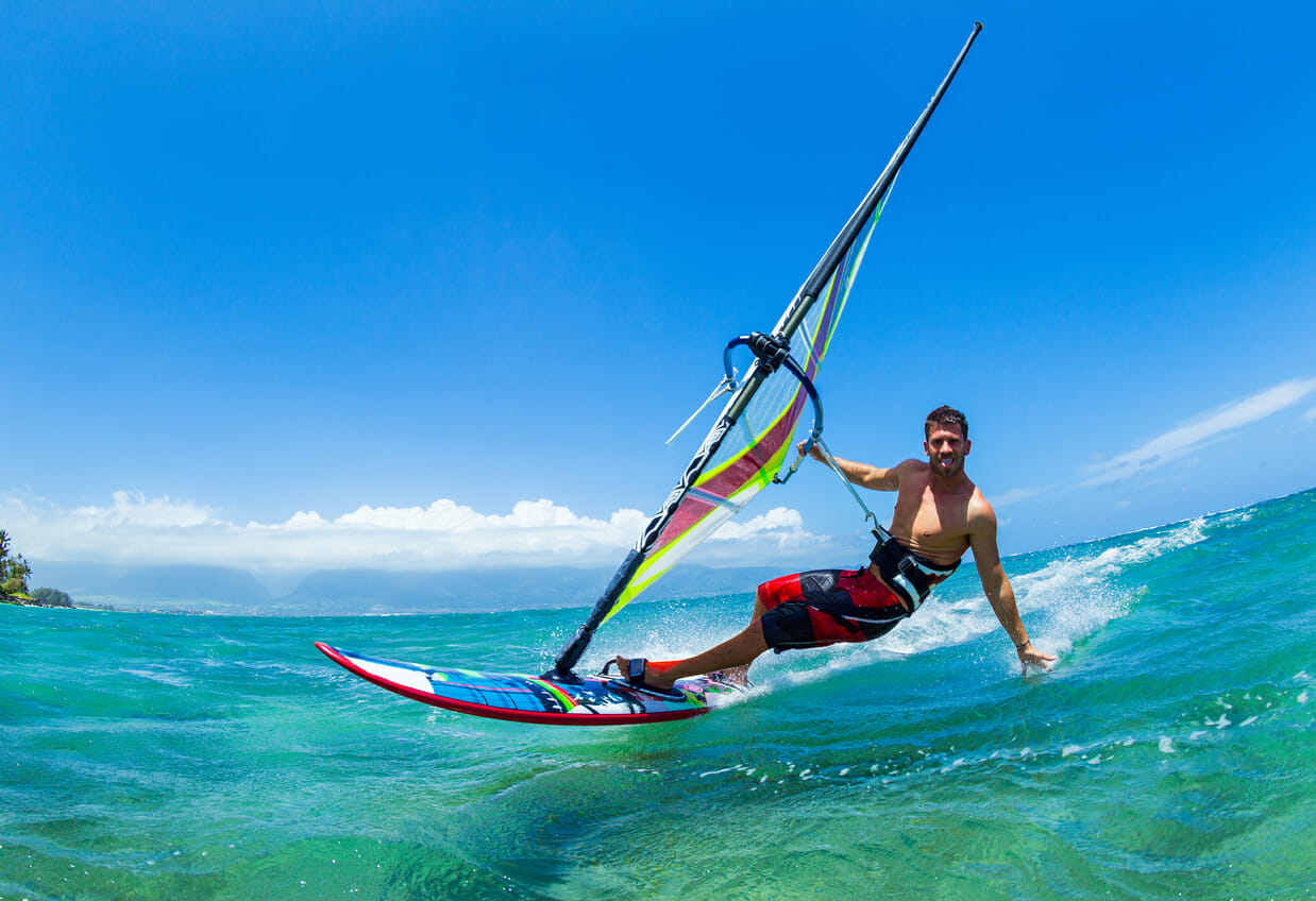 Windsurfing is a perfect gift for the men in your life