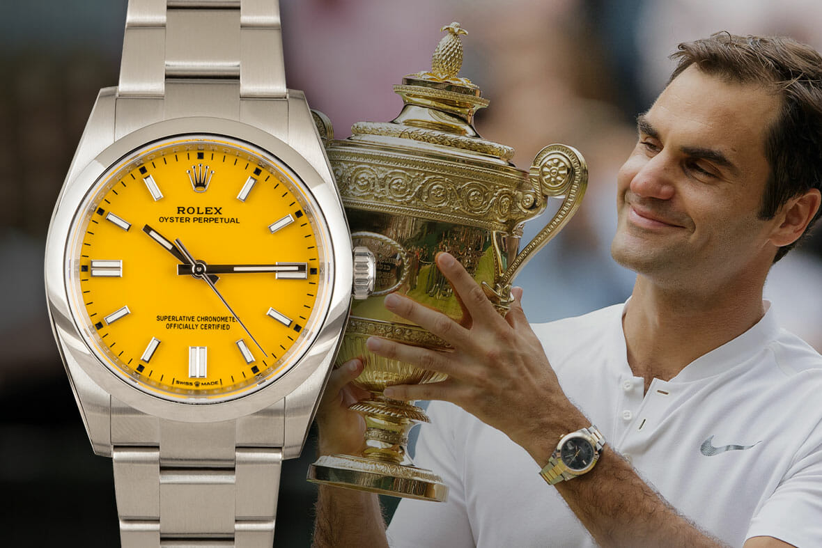 Roger Federer – Rolex Datejust (this is the watch he's been wearing at this year's Wimbledon)