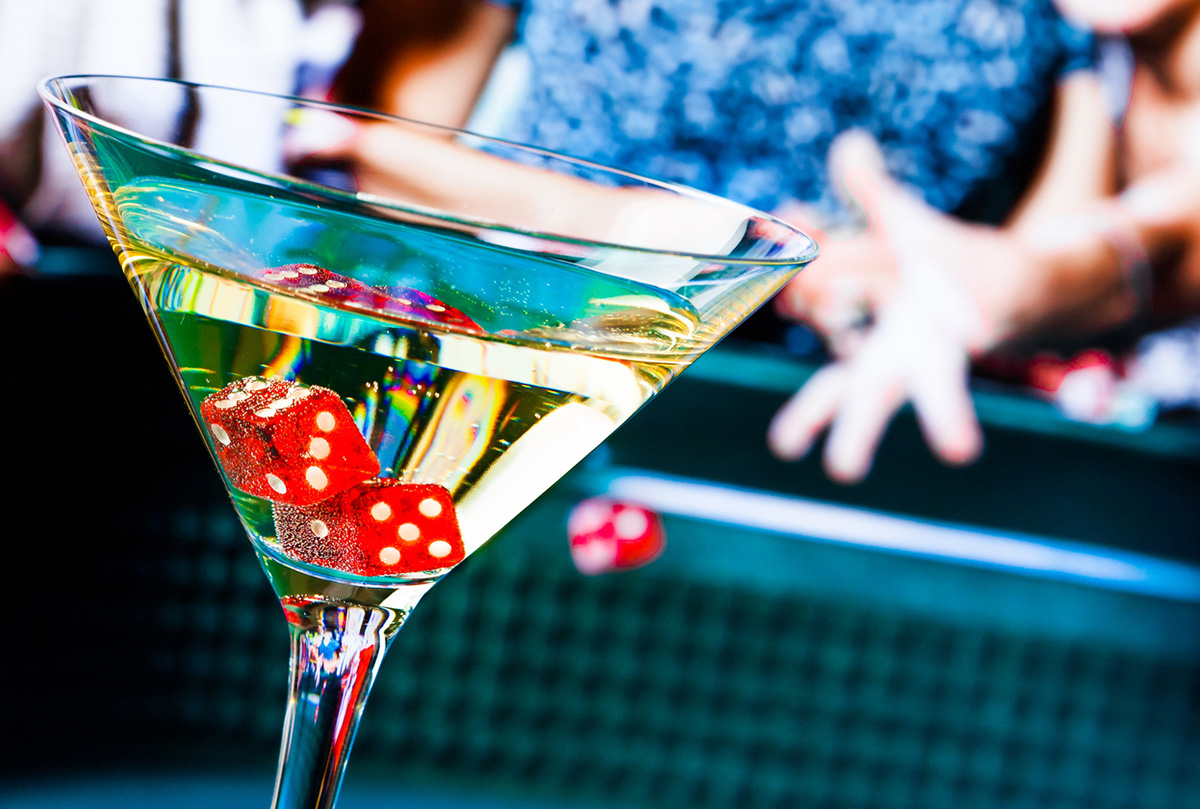 free alcohol at a high-end casino