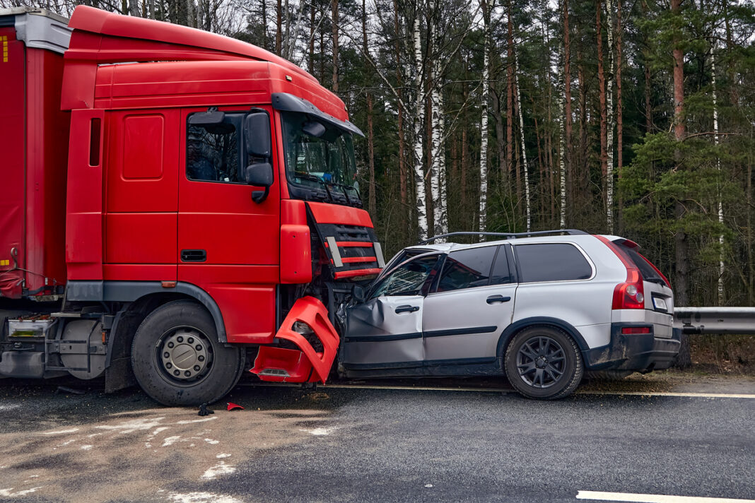 truck accident with a car