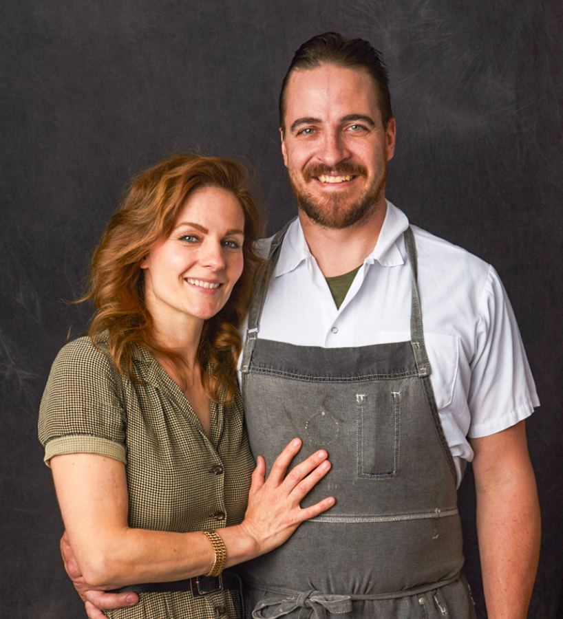 Chef Andy Schumacher and his wife Carrie, owners of Cobble Hill Eatery & Dispensary