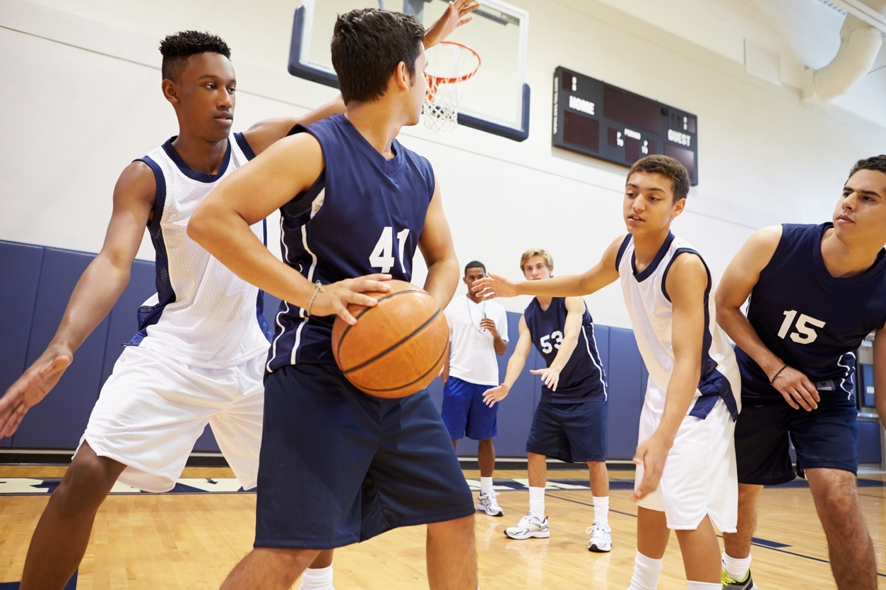 Staying active and safe while playing basketball