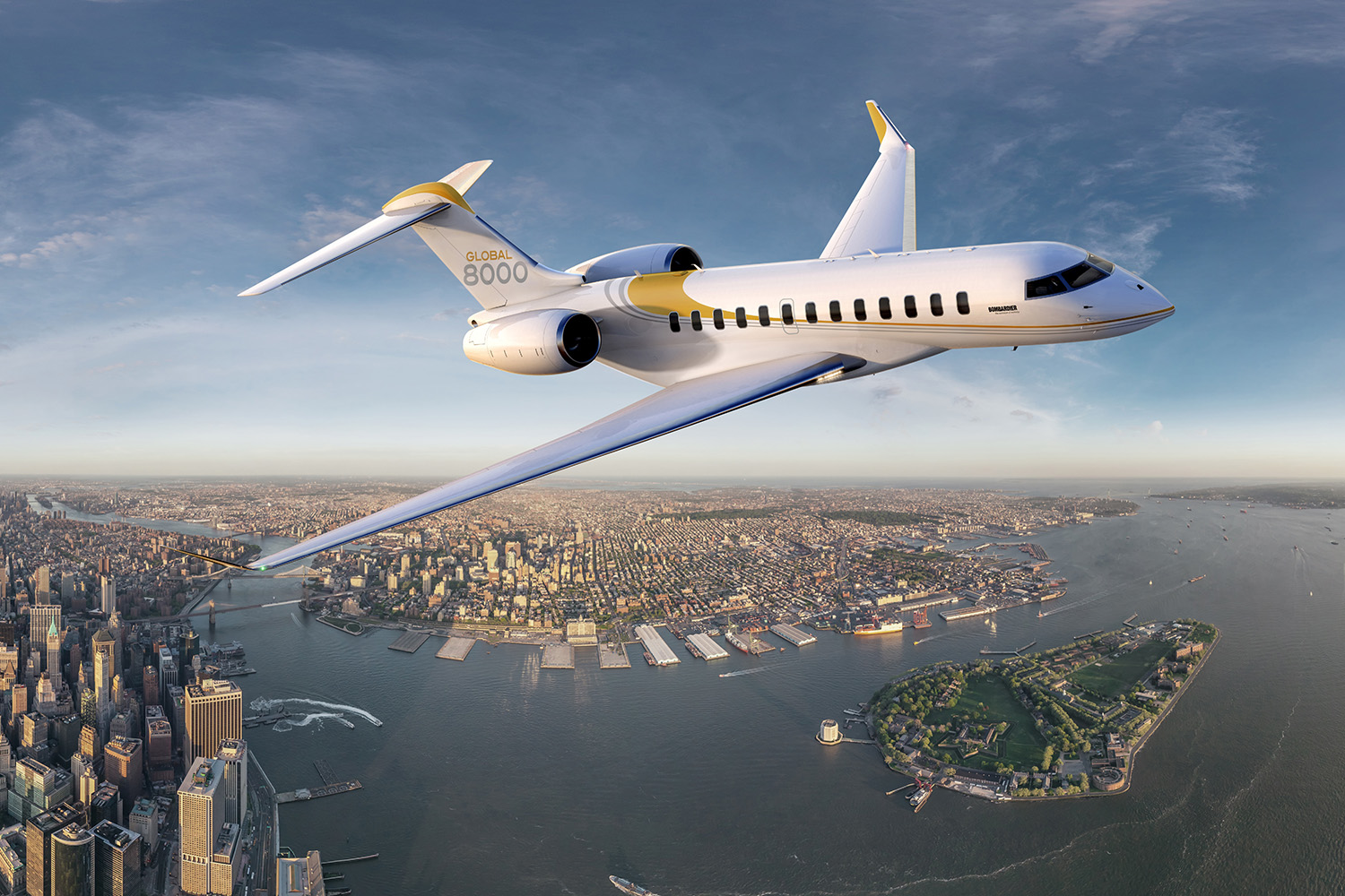 Bombardier Global 8000 private jet