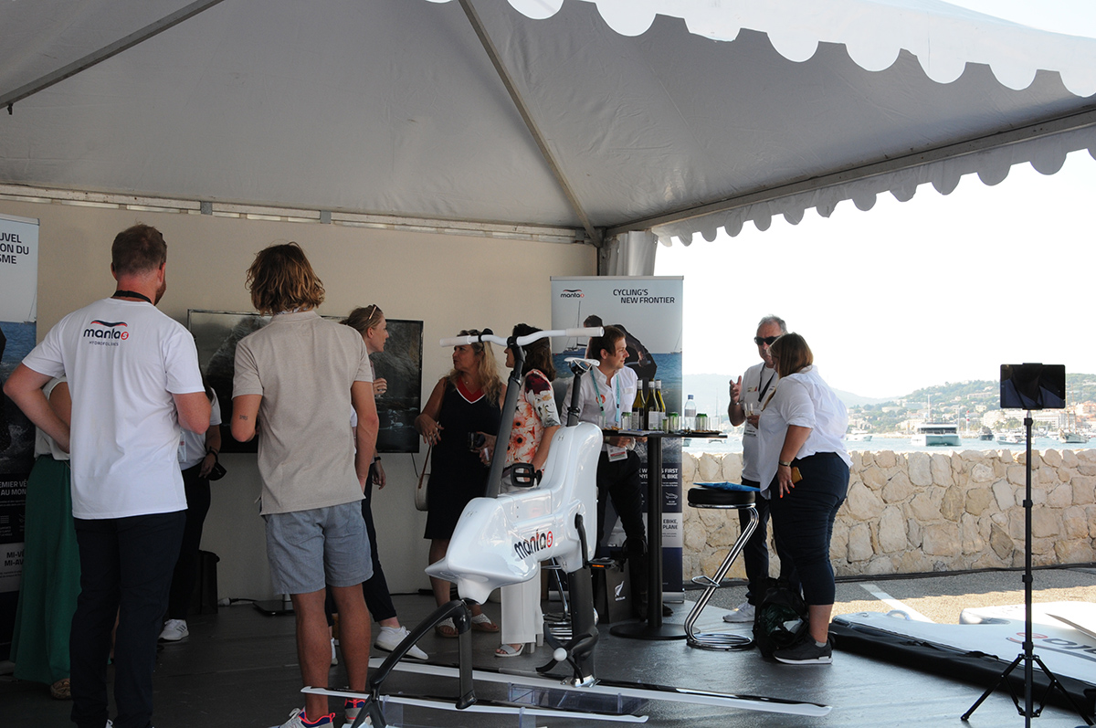 Hydrofoiler at the 2021 Cannes Yacht Festival