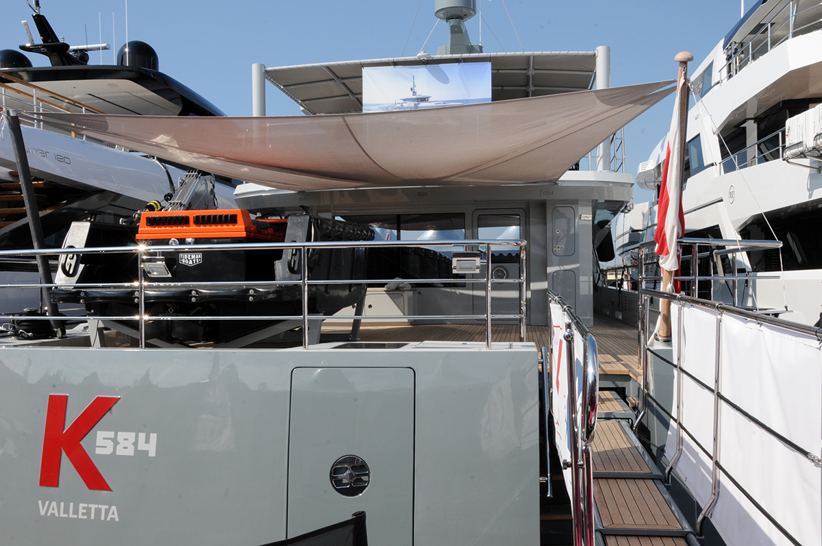 K 584 at the 2021 Cannes Yacht Festival