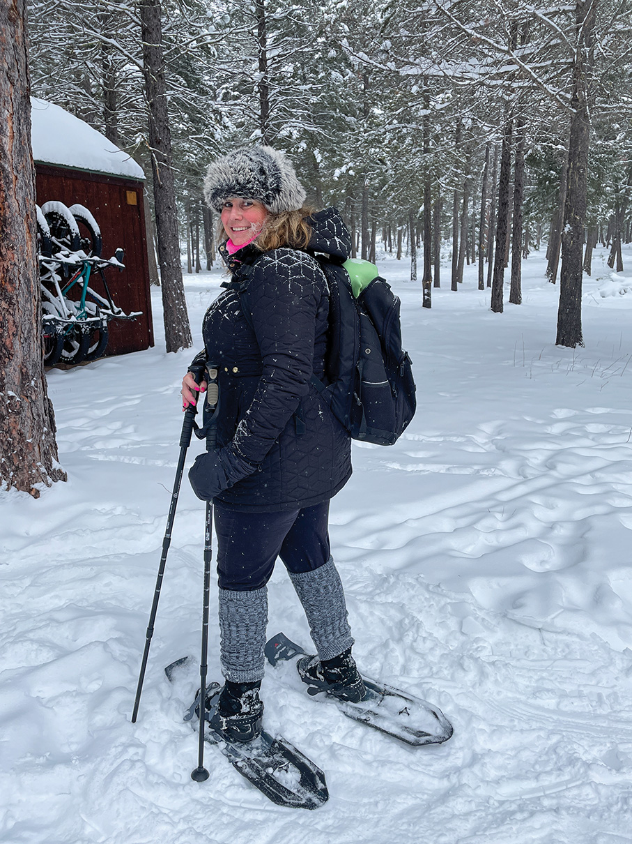 Tracy Snow shoeing