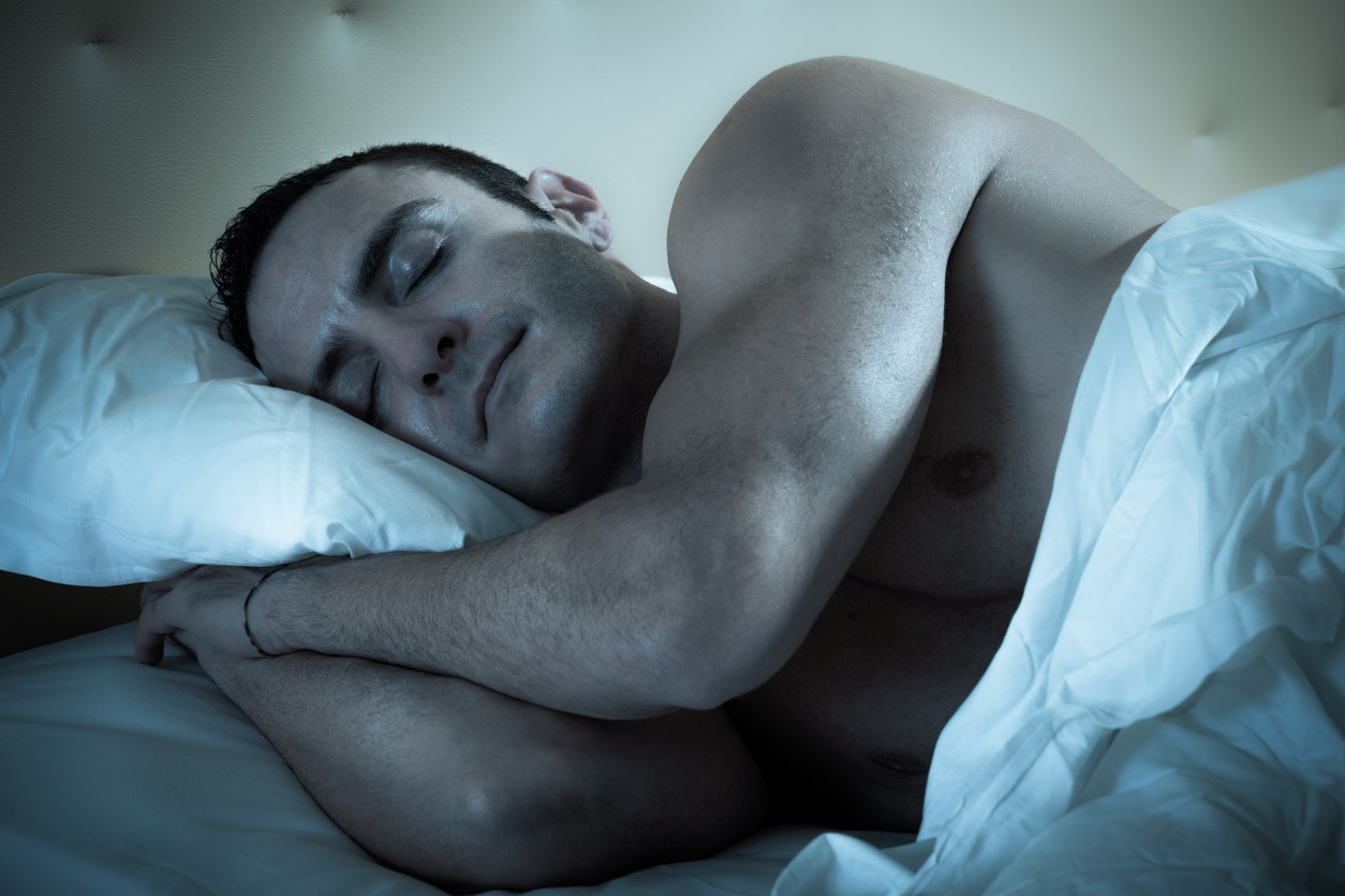Man with high testosterone levels resting